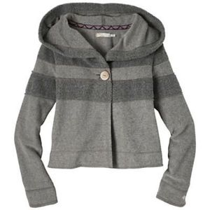 Prana women's Lanie hooded gray Sherpa jacket